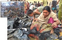 400 shanties burnt in a fire at Katasur slum of Mohammadpur