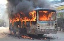 Bus set ablaze at Norda in the capital
