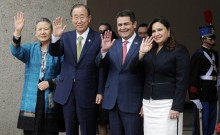 UN chief Ban Ki-moon in Honduras on anti-violence mission