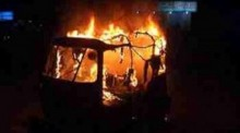 CNG-run auto-rickshaw torched in Rampura