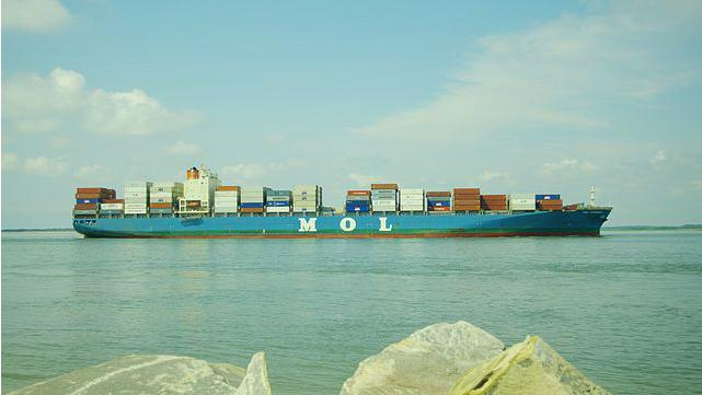 MOL-Operated Containership Aground in Japan