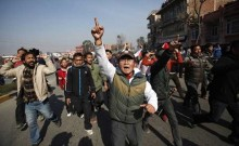 Nepal opposition turns violent in parliament