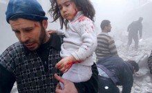 Syria regime barrel bombs kill 13 in Homs