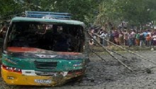 50 passengers injured in Rajshihi bus accident