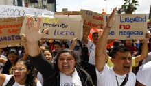Venezuelans demonstrate against President Maduro