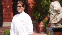 Amitabh Bachchan sings national anthem for 'Shamitabh' at Tagore home