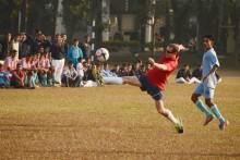 BAF plays friendly football match with USAF, wins 5-1