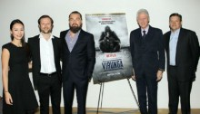 Bill Clinton Makes Surprise Appearance at Leonardo DiCaprio\'s \'Virunga\' Screening