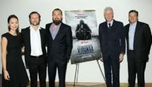 Bill Clinton Makes Surprise Appearance at Leonardo DiCaprio\'s \'Virunga\' Screening