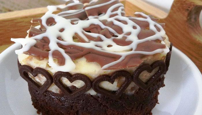 Valentine special recipe: Brownie Bottom Cheese Cake