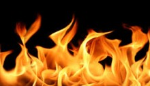 Fire at Gulistan market in city