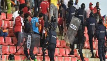 Ghana in final after crowd trouble