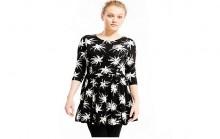 PETITE Palm Print Skater Dress
