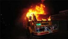 Burnt truck helper in Bogra arson dies