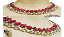 Kundan necklace with earrings