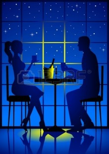 Preparing Romantic Candle Light Dinner At Home