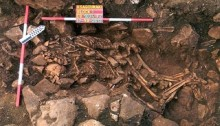 Archeologists discover 5,800-year-old couple who died spooning