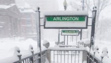 US north-east shivers in snowstorms