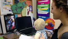 Reaching deaf babies with iPads, implants and therapy