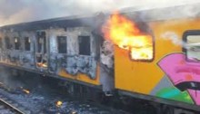 Train torched in Chandpur