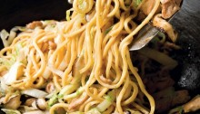 Longevity Noodles With Chicken, Ginger and Mushrooms