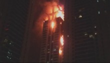 Fire rips through Dubai skyscraper