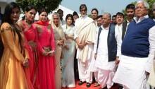 Big B attends pre-wedding bash of Mulayam's grandnephew