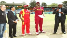 Zim picks a early wicket, WI in defensive