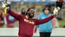 Chris Gayle: West Indies opener hits first World Cup 200