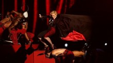 Madonna falls off stage