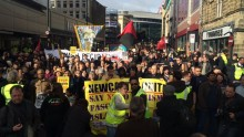 \'Anti-Islamisation\' group Pegida UK holds Newcastle march