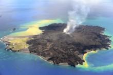 Volcano grows Japanese island