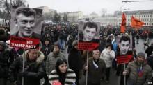 Boris Nemtsov murder: Tens of thousands march in Moscow