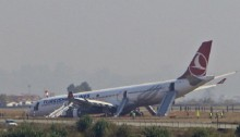 Turkish jetliner landing in fog skids off runway in Nepal, passengers are safe