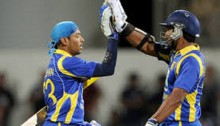 Sangakkara's records fourth consecutive century and Dilshan's second century in this WC