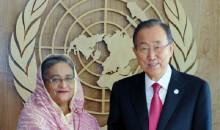 Ban Ki-moon seeks Hasina\'s cooperation