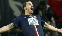 Ibrahimovic hat-trick helps PSG boost quadruple dream