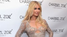 Paris Hilton wore an exquisite naked dress in L.A.