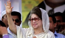 Khaleda's motorcade under attack again