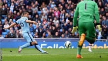 Man City beat Villa to go second