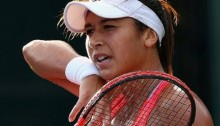Heather Watson knocked out of Prague Open in first round