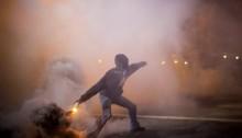 Baltimore police enforce curfew