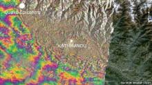 Sentinel satellite reveals Nepal quake movement