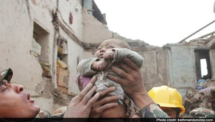 4-month-old baby rescued alive from debris in earthquake-hit Nepal