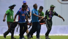 Injured Shahadat unlikely to bowl