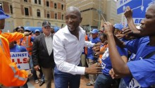 South Africa opposition party elects first black leader
