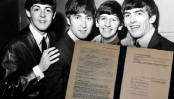 Beatles contract sold for £365,000 at London auction