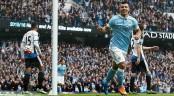 Aguero's thumps five past Newcastle