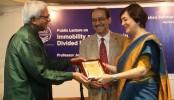 Trinity College fellow Prof Joya Chatterji speaks in BRAC University