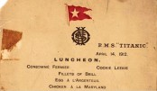 <p>Titanic&rsquo;s last lunch menu sells for $88,000</p>